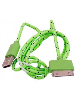 Кабель USB для IPhone 3/3gs/4/4s Ipad 2/3/4 в тканевой оплетке