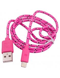 Кабель USB для IPhone 5/6 в тканевой оплетке